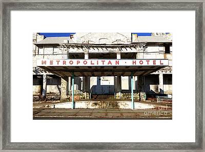 Asbury Park Metropolitan Hotel Framed Print