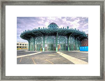 Asbury Park New Jersey Casino  Framed Print by Geraldine Scull