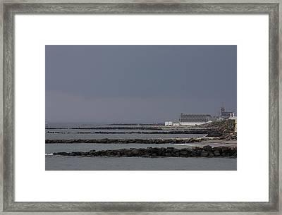 Asbury Park Skyline Framed Print by Boris REYT