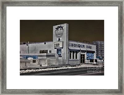 Asbury Park The Wonder Bar In Infared 1 Framed Print by Paul Ward