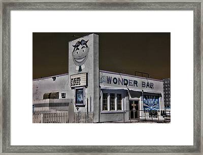 Asbury Park The Wonder Bar In Infared Framed Print by Paul Ward