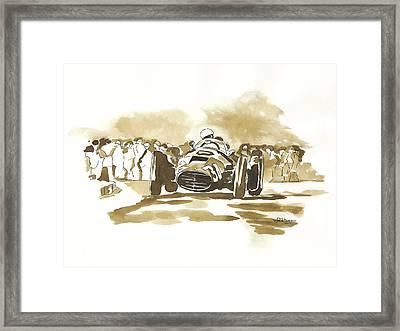 Ascari Framed Print by Francoise Villibord Pointeau