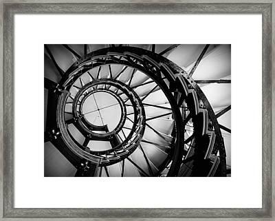 Ascend - Black And White Framed Print