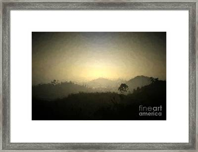 Ascend The Hill Of The Lord - Digital Paint Effect Framed Print