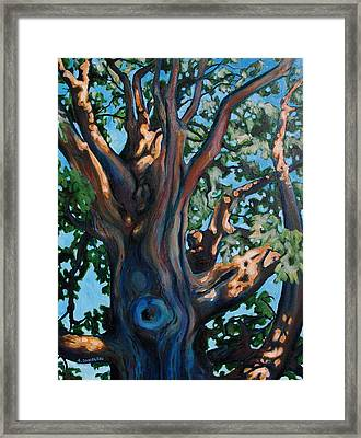 Framed Print featuring the painting Ascending by Andrew Danielsen