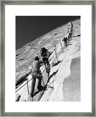 Ascending Half Dome Framed Print by Ryan Scholl