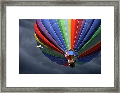 Ascending To The Storm Framed Print by Marie Leslie