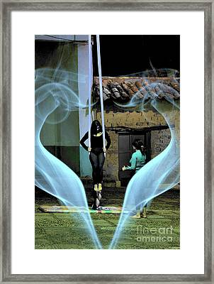 Ascension Of The Acrobat Framed Print by Al Bourassa