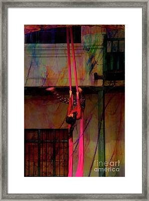 Ascension Of The Acrobat II Framed Print by Al Bourassa