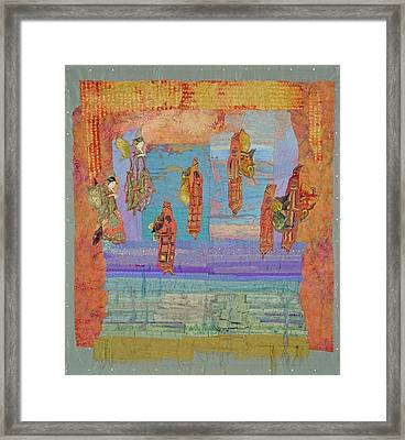 Ascension Of The Butterfly Women Framed Print by Roberta Baker