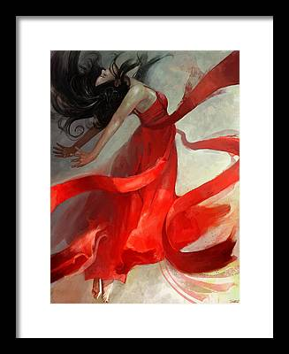 Red Framed Prints