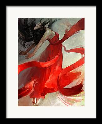 Red Dress Framed Prints
