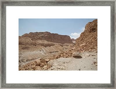Framed Print featuring the photograph Ascension To Masada - Judean Desert, Israel by Yoel Koskas