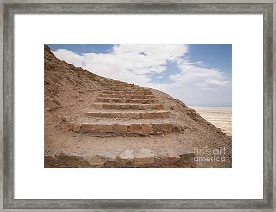 Framed Print featuring the photograph Stairway To Heaven - Masada, Judean Desert, Israel by Yoel Koskas