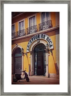 Ascensor Da Bica Lisbon Framed Print by Carol Japp