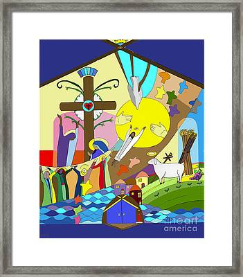 Ascention Mural Framed Print by Angelina Marino