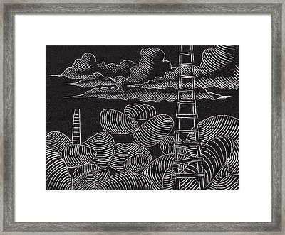 Ascesion Ladder Series Framed Print by John Carr