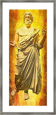 Framed Print featuring the photograph Asclepius Descending by Nigel Fletcher-Jones
