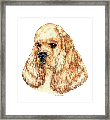 Ascob American Cocker Spaniel Framed Print by Kathleen Sepulveda
