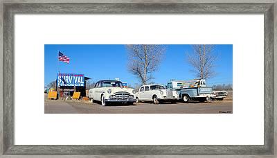 Ash Fork Vintage Cars Along Historic Route 66 Framed Print