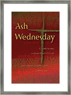 Framed Print featuring the digital art Ash Wednesday by Chuck Mountain