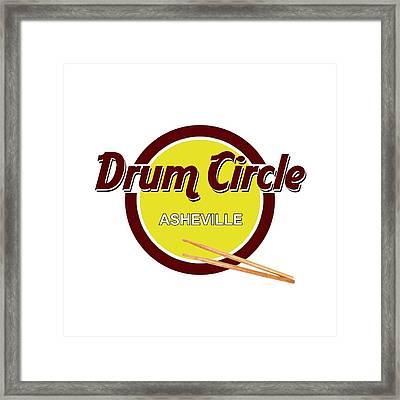 Asheville Drum Circle Logo Framed Print