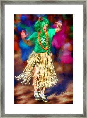 Asheville Grass Dance Framed Print by John Haldane