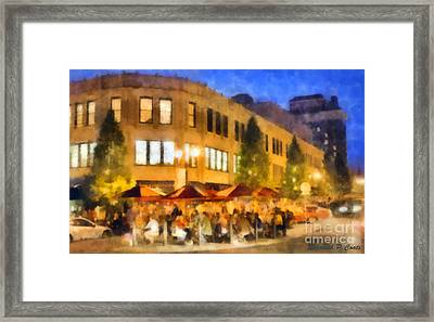 Asheville Nightlife Framed Print by Elizabeth Coats
