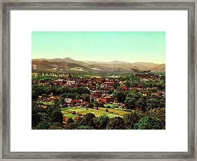 Asheville North Carolina 1902 Framed Print by Mountain Dreams