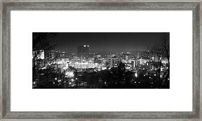 Asheville North Carolina Skyline Framed Print by Gray  Artus