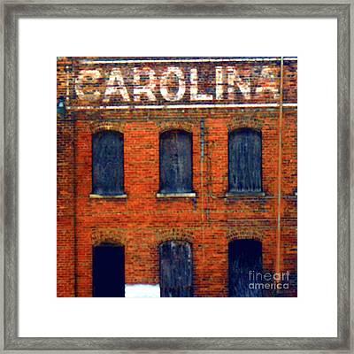 Asheville River District Framed Print