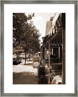 Asheville Street Framed Print