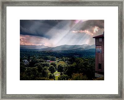 Asheville Sunset Framed Print by Jim Hill
