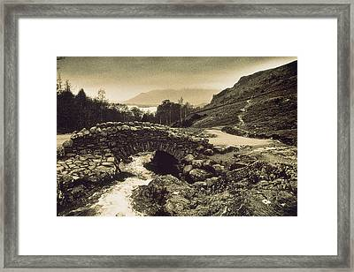Ashness Bridge Cumbria England Framed Print by Panoramic Images