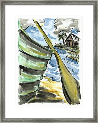 Framed Print featuring the painting Ashore by Robert Joyner