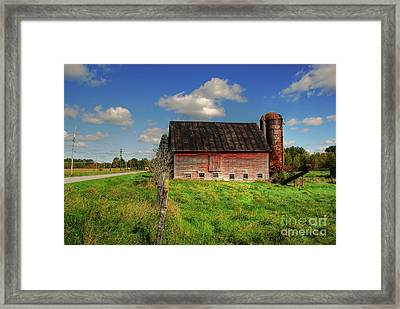 Ashtabula County Barn Framed Print by Tony  Bazidlo