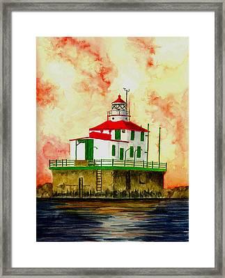 Ashtabula Lighthouse Framed Print by Michael Vigliotti