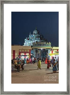 Ashtalakshmi Temple At Night Chennai India Framed Print