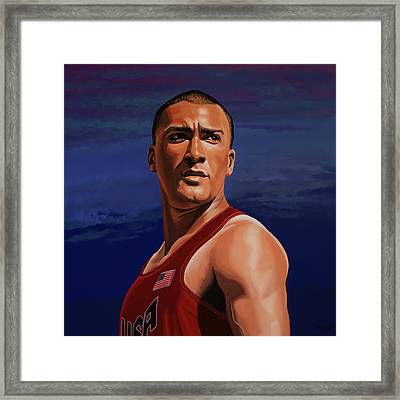 Ashton Eaton Painting Framed Print by Paul Meijering