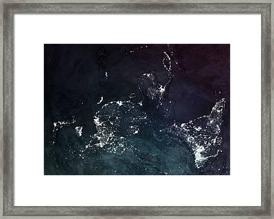 Asia Upsidedown Framed Print by Marco Bagni