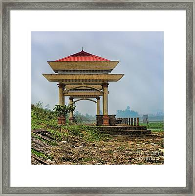 Asian Architecture I Framed Print by Chuck Kuhn