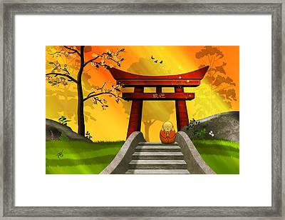 Asian Art Chinese Spring Framed Print by John Wills