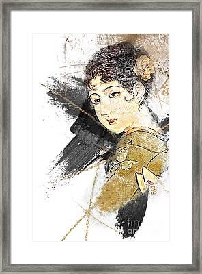 Asian Beauty Framed Print