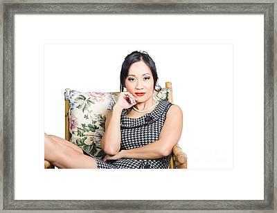 Asian Business Woman Framed Print