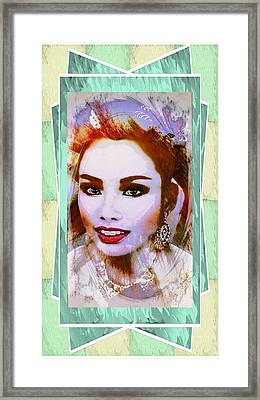 Asian Culture Pop Art Girl Framed Print by Ian Gledhill