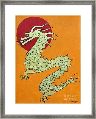 Asian Dragon Icon No. 1 Framed Print