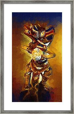 Asian Dragon Man Framed Print by Russ Harris