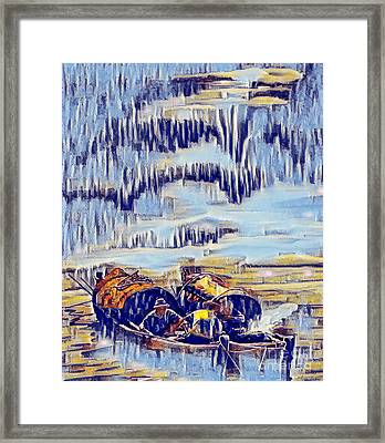 Asian Fishermen Framed Print