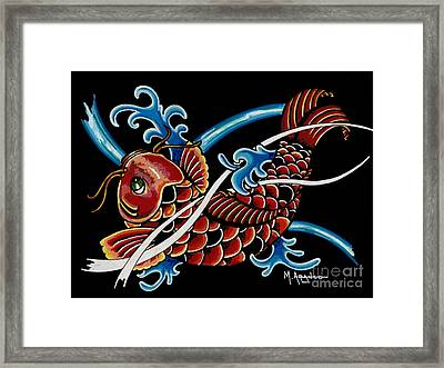Asian Koi Framed Print