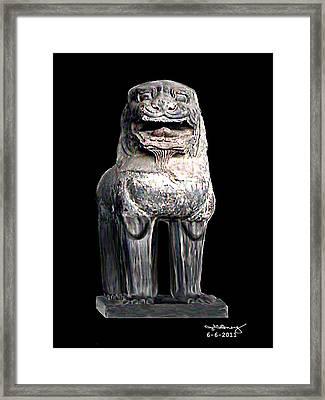 Asian Lion Jgibney The Museum Framed Print by The MUSEUM Artist Series jGibney